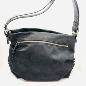 "Coach Black Signature ""C"" Handbag"